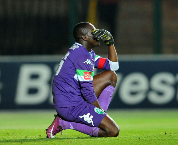 Kapini Tapuwa of Amazulu dejected during the Absa Premiership football match between Bidvest Wits and Amazulu at the Bidvest Stadium, Johannesburg on 17 September 2013