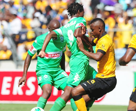 Bongani Ndulula AmaZulu battles Siboniso Gaxa of Kaizer Chiefs during the Absa Premiership 2013/14 football match between AmaZulu and Kaizer Chiefs at the Moses Mabhida Stadium in Durban, Kwa-Zulu Natal on the 22th of December 2013  ©Sabelo Mngoma/Backpag