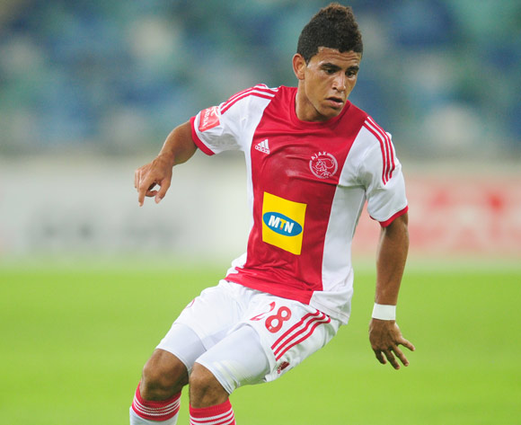 Keagan Dolly of Ajax Cape Town during the Absa Premiership 2013/14 football match between AmaZulu and Ajax Cape Town at the Moses Mabhida Stadium in Durban, Kwa-Zulu Natal on the 4th of February 2014