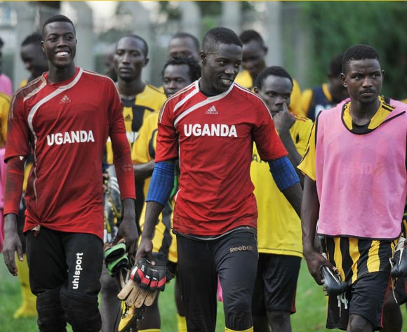 The Uganda Cranes players disperse after training on 02 November 2013 at Lugogo Stadium, Kampala in preparation for the 2014 Cecafa and Chan Qualifiers. ©Ismail Kezaala/BackpagePix