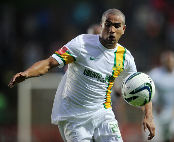Bryce Moon of Mamelodi Sundowns during the Absa Premiership 2013/14 match between Bidvest Wits and Mamelodi Sundowns at Bidvest Stadium in Johannesburg on the 01 March 2014