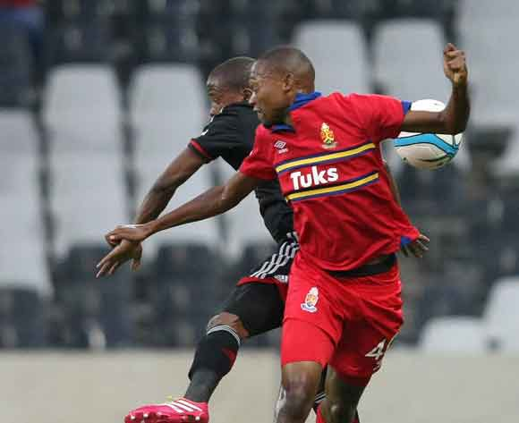Thabo Mnyamane during the Absa Premiership 2013-14 match between University of Pretoria and Orlando Pirates in Mbombela Stadium, Nelspruit on the 8th March 2014.