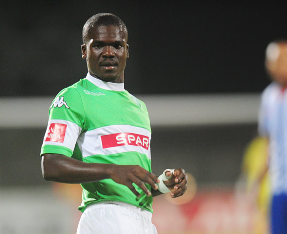 Goodman Dlamini of AmaZulu during the Absa Premiership 2013/14 football match between Maritzburg United and AmaZulu at the Harry Gwala Stadium in Durban, Kwa-Zulu Natal on the 14th of March 2014