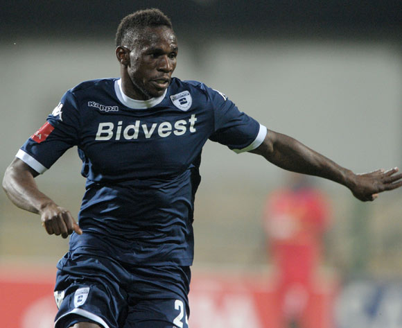 Onismor Bhasera of Bidvest Wits during theAbsa Premiership 2013/14 match between University of Pretoria and Bidvest Wits at Tuks Stadium in Pretoria on the 19 March 2014