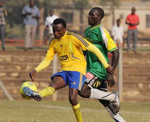 Michael Birungi of KCCA FC in action during their 2014 Fufa Super League game against CRO FC at the Lugogo Stadium, Kampala on 18 February 2014 ©Ismail Kezaala/BackpagePix