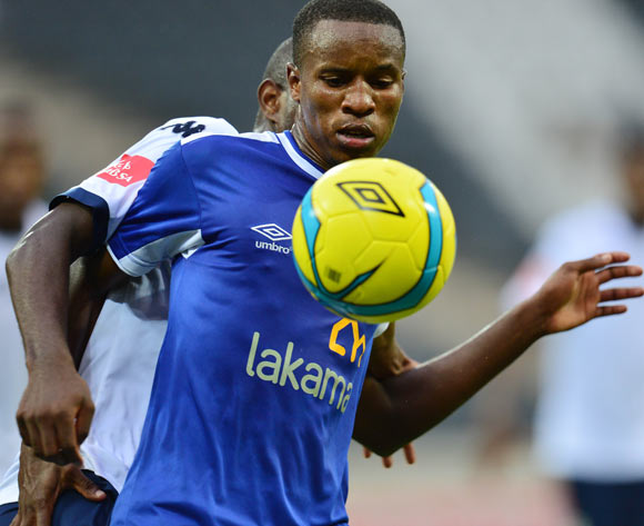 Themba Zwane of Black Aces during the 2013/14 Absa Premiership football match between Black Aces and Bidvest Wits at Mbombela Stadium, Nelspruit  on 5 April 2014