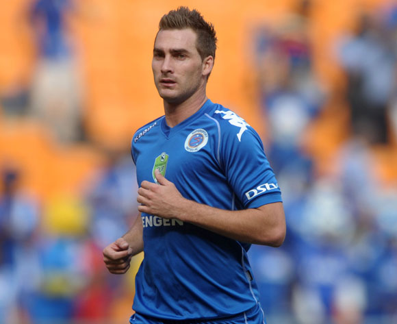 Bradley Grobler of Supersport United during the 2014 Nedbank Cup match between Kaizer Chiefs and Supersport United at FNB Stadium in Johannesburg on the 12 April 2014