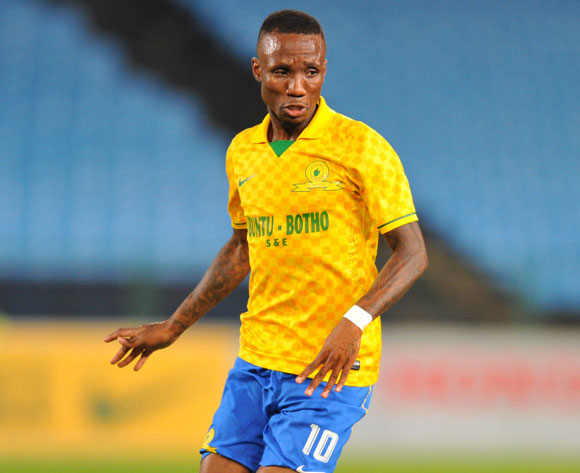 Teko Modise of Mamelodi Sundowns during the Absa Premiership football match between Mamelodi Sundowns and Black Aces at the Loftus Stadium, Pretoria on 16 April 2014