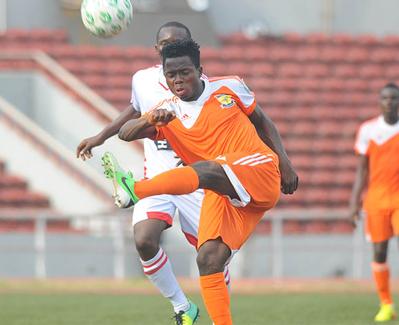 Seun Olulayo of Sunshine Stars during the Nigeria Premier League