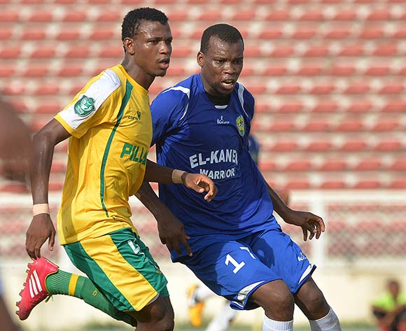 Pillars star Shehu Abdullahi (left) vs El Kanemi