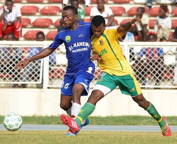 Shehu Abdullahi of Kano Pillars (right)