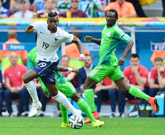 Paul Pogba of France during the 2014 Brazil World Cup Final Last 16 football match between France and Nigeria at the Estadio Nacional Brasilia, Brazil on 30 June 2014