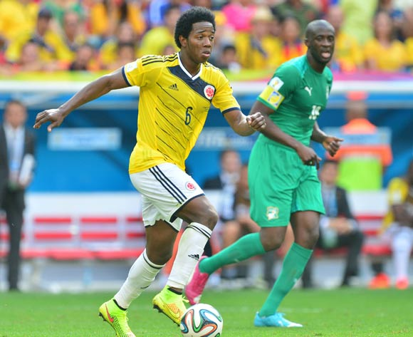 Carlos Sanchez of Colombia during the 2014 Brazil World Cup Final Group C football match between Colombia and Ivory Coast at the Estadio Nacional Brasilia, Brazil on 19 June 2014