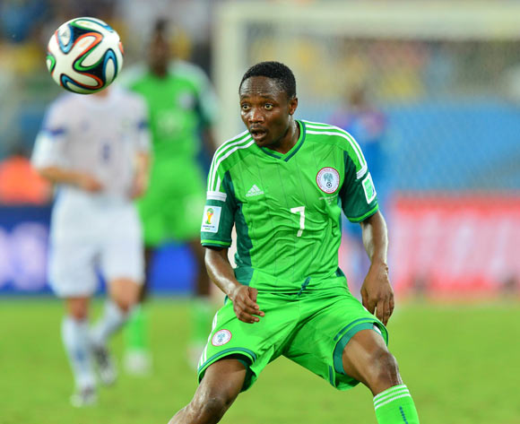 Ahmed Musa of Nigeria  during the 2014 Brazil World Cup Final Group F football match between Nigeria and Bosnia at the Arena Pantanal in Cuiaba, Brazil on 21 June 2014