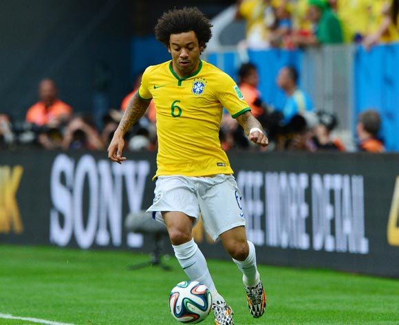 Marcelo of Brazil during the 2014 Brazil World Cup Final Group A football match between Cameroon and Brazil at the Estadio Nacional Brasilia, Brazil on 23 June 2014