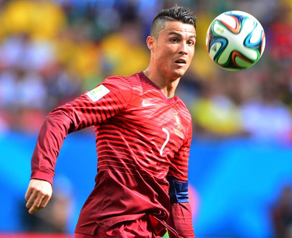 Cristiano Ronaldo of Portugal during the 2014 Brazil World Cup Final Group G football match between Portugal and Ghana at the Estadio Nacional Brasilia, Brazil on 26 June 2014