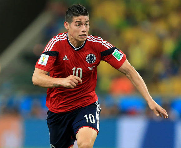 Colombia's James Rodriguez during the quarter final match at the Estadio Castelao, Fortaleza