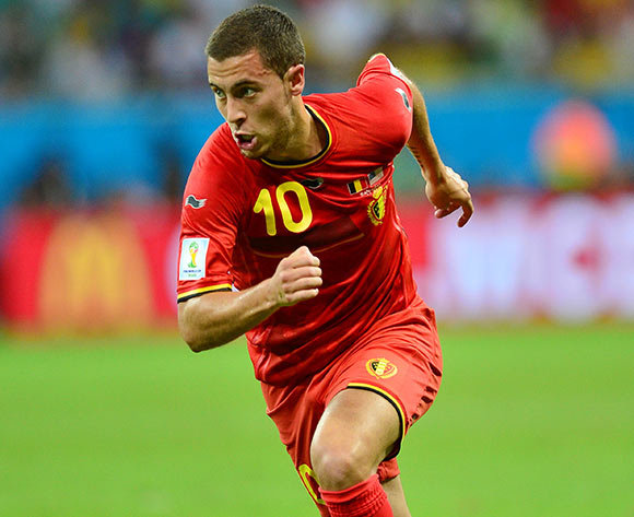 Eden Hazard of Belgium  during the 2014 Brazil World Cup Final Last 16 football match between Belgium and USA  at the Arena Fonte Nova in Salvador, Brazil on 01 July  2014
