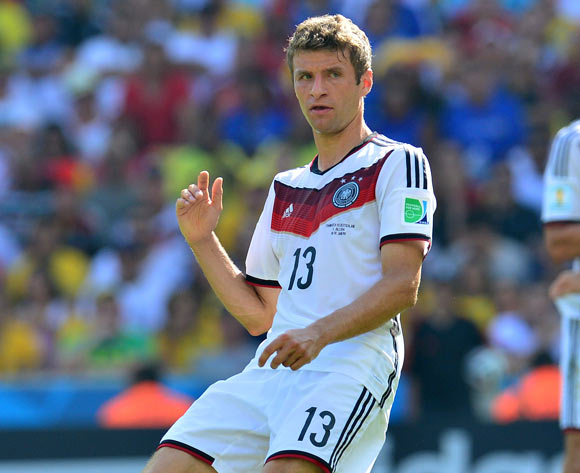 Thomas Muller of Germany during the 2014 Brazil World Cup Final Quarterfinal football match between France and Germany at the Maracana Stadium in Rio De Janeiro on 4 July 2014