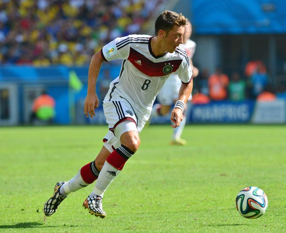 Mesut Ozil of Germany during the 2014 Brazil World Cup Final Quarterfinal football match between France and Germany at the Maracana Stadium in Rio De Janeiro on 4 July 2014