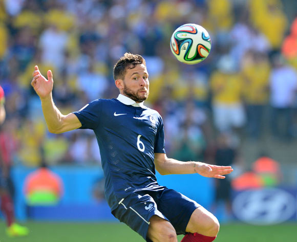 Yohan Cabaye of France  during the 2014 Brazil World Cup Final Quarterfinal football match between France and Germany at the Maracana Stadium in Rio De Janeiro on 4 July 2014