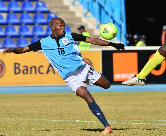 Lemponye Tshireletso of Botswana during the 2015 African Cup of Nations football qualifier between Botswana and Guinea Bissau at the National Stadium in Gaborone on 19 July 2014