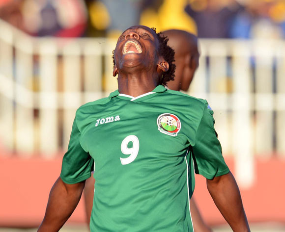 Jacob Keli of Kenya dejected after missing the final chance for his team during the AFCON Qualifier match between Lesotho and Kenya  on the 20 July 2014 at Setsoto Stadium in Maseru