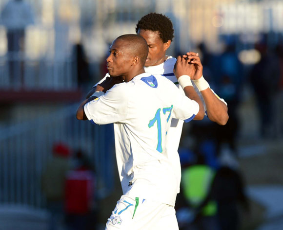 Lesotho celebrates a goal during the AFCON Qualifier match between Lesotho and Kenya  on the 20 July 2014 at Setsoto Stadium in Maseru