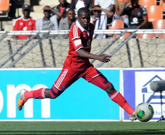 Sifiso Myeni of Orlando Pirates  during The Absa Premiership match between Polokwane City and Orlando Pirates on the 30 August 2014 at Peter Mokaba Stadium
