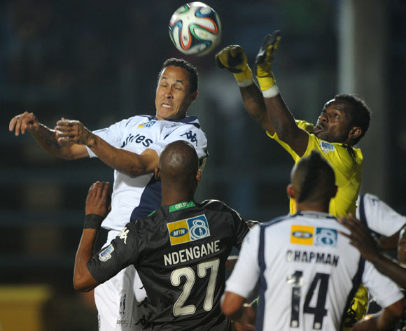 Henrico Botes of Bidvest Wits battles with Patrick Tignyemb of Bloemfontein Celtic during the 2014 MTN 8 Quarter Final match between Bidvest Wits and Bloemfontein Celtic at Bidvest Stadium,  Johannesburg on the 01 August  2014