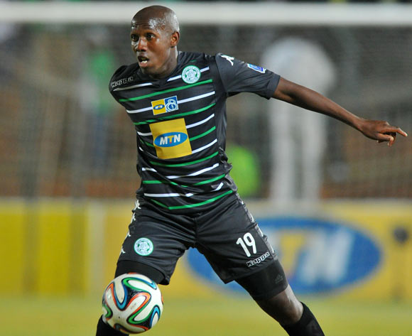 Tumelo Mogapi of Bloemfontein Celtic during the MTN8 Quarter final match between Bidvest Wits and Bloemfontein Celtic at the Bidvest Stadium, Johannesburg on the 01 August 2014