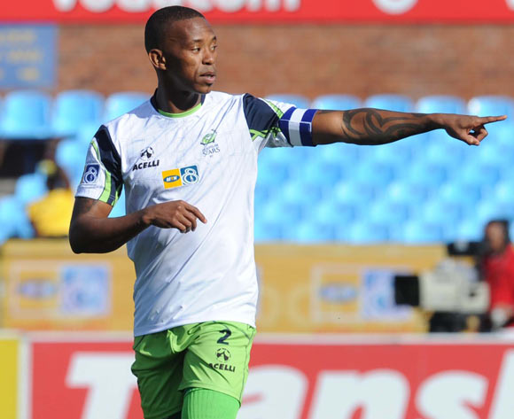Vuyo Mere of Platinum Stars celebrates during the MTN8 match between Mamelodi Sundowns and Platinum Stars  on the 02 August 2014 at Loftus Stadium