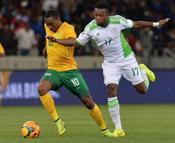 Onazi (right) is again beaten to the ball in midfield on Wednesday
