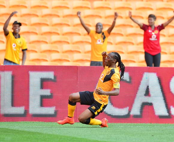 Reneilwe Letsholonyane of Kaizer Chiefs celebrates goal during the 2014/15 Absa Premiership football match between Kaizer Chiefs and University of Pretoria at Soccer City, Johannesburg on 13 September 2014