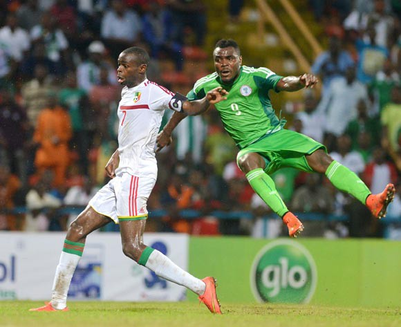 Emenike of Nigeria against Oniangue on Saturday