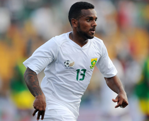 Kermit Erasmus of South Africa during the African Cup of Nations Qualifiers match between Congo and South Africa at Stade Municipal de Pointe-Noire Stadium, Congo Brazzaville on 11 October 2014