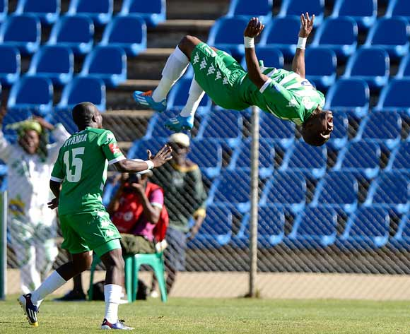 Alfred Ndengane of Bloemfontein Celtic celebrate his goalAlfred Ndengane from Bloemfontein Celtic FC. celebrate his goal during the Absa Premiership match between Bloemfontein Celtic FC and Polokwane City FC at the Kaizer Sebothelo Stadium  on 19 October 2014