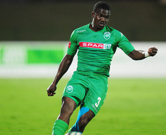Goodman Dlamini of AmaZulu during the Absa Premiership 2014/15 football match between AmaZulu and Chippa United  at the Princess Magogo Stadium in Durban , Kwa-Zulu Natal on the 18th of October 2014