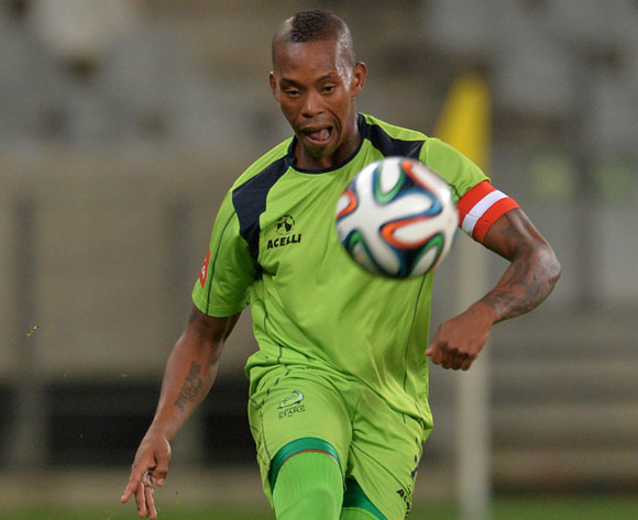 Vuyo Mere of Platinum Stars during the Absa Premiership 2014/15 football match between Ajax Cape Town and Platinum Stars at Cape Town Stadium, Cape Town on 22 October 2014