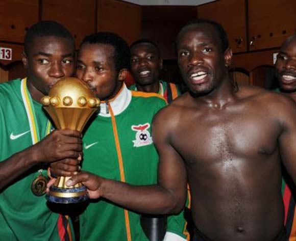 2012 AFCON victors receive Zambia 50th jubilee medal
