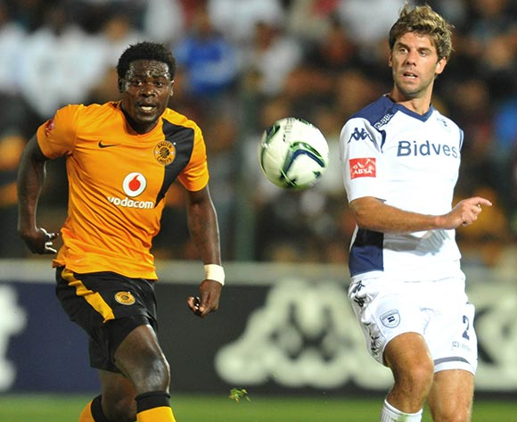 Kees Kwakman of Bidvest Wits challenged by Kingston Nkhatha of Kaizer Chiefs during the Absa Premiership 2014/15 football match between Bidvest Wits and Kaizer Chiefs at the Bidvest Stadium in Johannesburg, South Africa on December 03, 2014 ©Samuel Shivambu/BackpagePix