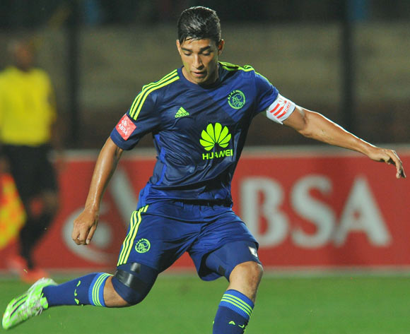 Travis Graham of Ajax Cape Town during the Absa Premiership 2014/15 football match between Bidvest Wits and Ajax Cape Town at the Bidvest Stadium in Johannesburg, South Africa on December 10, 2014