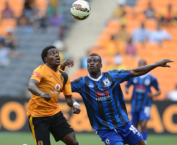 Kingston Nkhatha of Kaizer Chiefs battles with Edwin Gyimah of Black Aces during the Absa Premiership match between Kaizer Chiefs and Black Aces on the 20 December 2014 at FNB Stadium Pic Sydney Mahlangu/BackpagePix