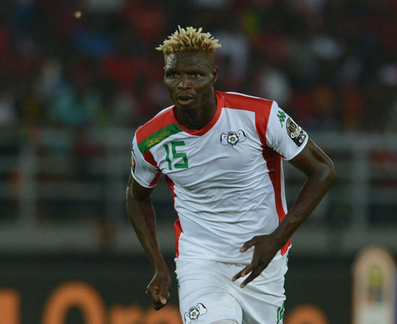 Aristide Bance of Burkina Faso during of the 2015 Africa Cup of Nations match between Burkina Faso and Gabon at Bata Stadium, Equatorial Guinea on 17 January 2015