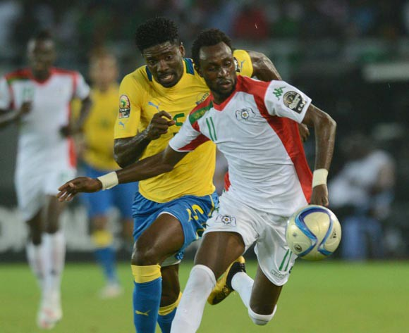 Pitroipa of Burkina Faso goes for goal vs Gabon on Saturday