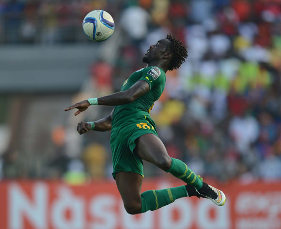 Pape Ndiaye Souare of Senegal  during of the 2015 Africa Cup of Nations match between Senegal and  Ghana at Mongomo Stadium, Equatorial Guinea on 19 January 2015