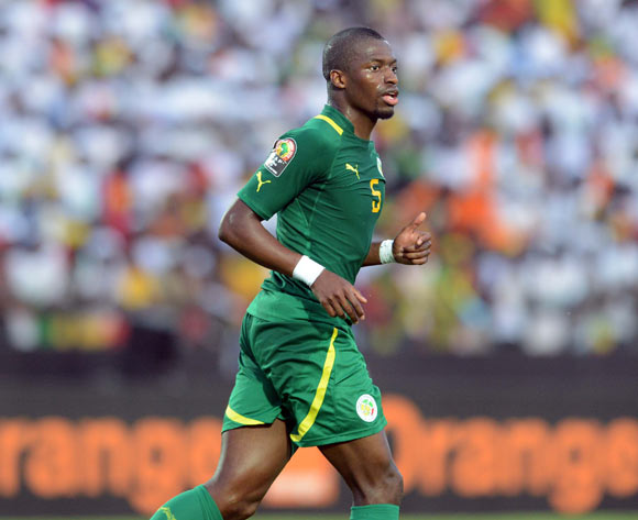 Papa Kouli Diop of Senegal  during of the 2015 Africa Cup of Nations match between Senegal and  Ghana at Mongomo Stadium, Equatorial Guinea on 19 January 2015
