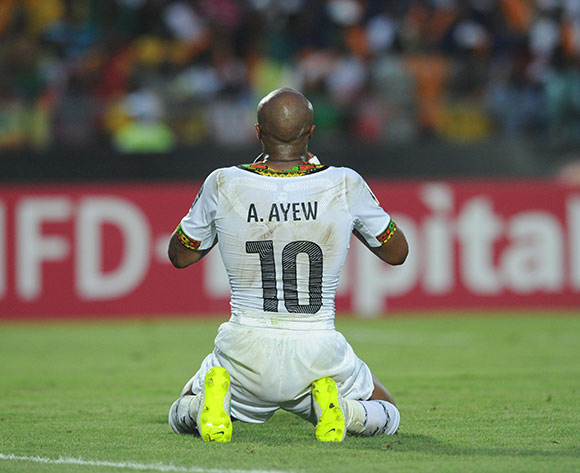Andre Ayew of Ghana   during of the 2015 Africa Cup of Nations match between Ghana and Senegal at Mongomo Stadium, Equatorial Guinea on 23 January 2015 Pic Sydney Mahlangu/BackpagePix