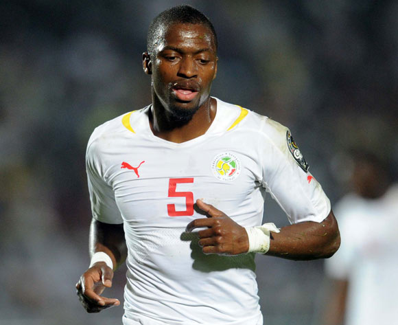 Papa Kouli Diop of Senegal during of the 2015 Africa Cup of Nations match between South Africa and Senegal at Mongomo Stadium, Equatorial Guinea on 23 January 2015