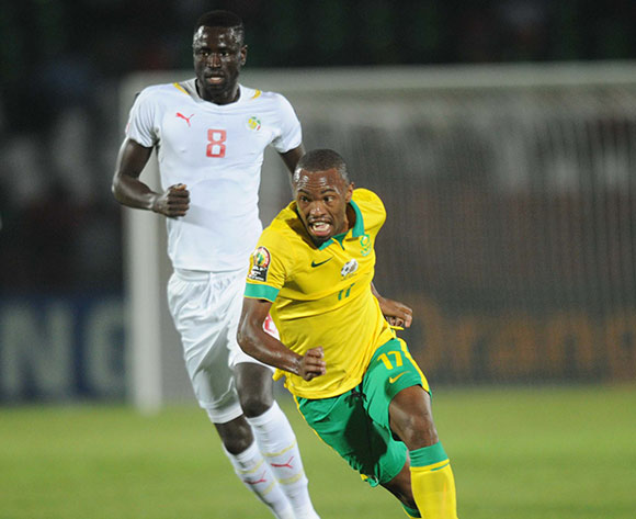 Bernard Parker of South Africa  during of the 2015 Africa Cup of Nations match between South Africa and Senegal at Mongomo Stadium, Equatorial Guinea on 23 January 2015 Pic Sydney Mahlangu/BackpagePix